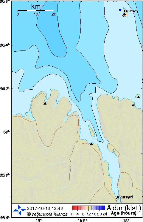 Map of Eyjafjörður
