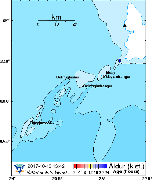 Map of Reykjanes ridge