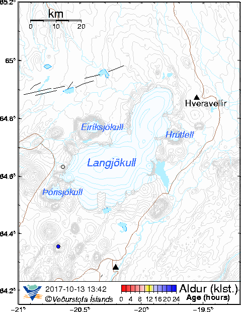 Map of Langjökull