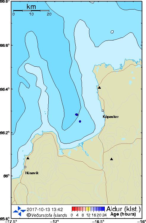 Map of Öxarfjörður