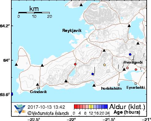 Map of Reykjanes Peninsula