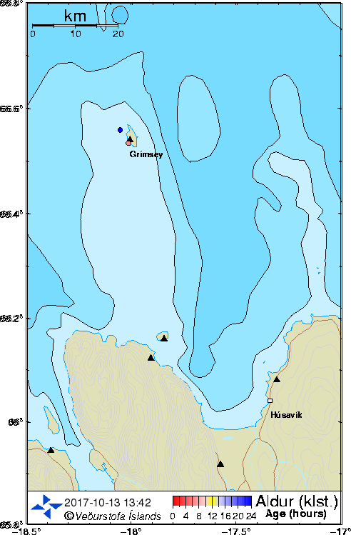 Map of Skjálfandi and Grímsey
